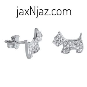 Sterling Silver Cubic Zirconia Puppy